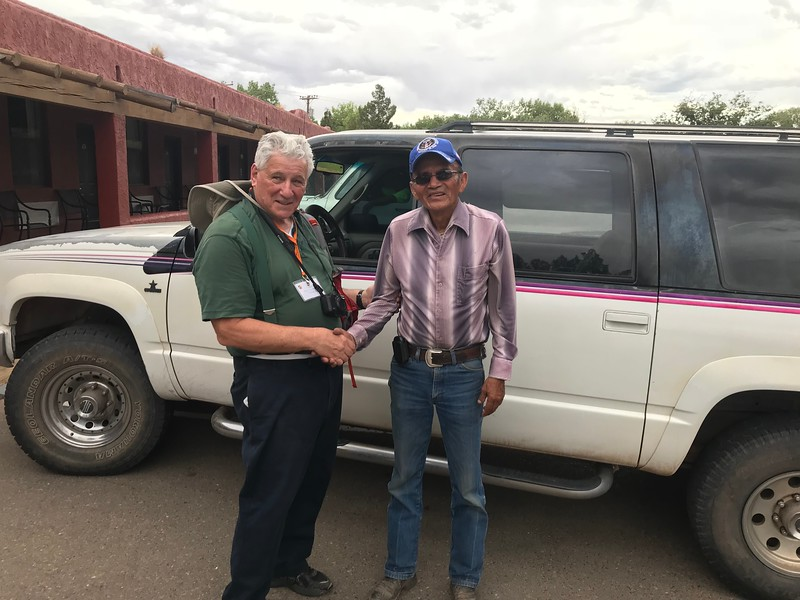 Chuck and our guide, Frank - Bridget St. Clair