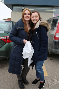 Project Thrift designers from The Greenhouse: (Left to Right)  Emma Wenman and Jenna Hutchinson.