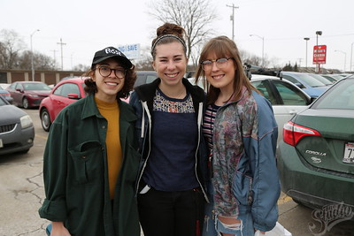 Project Thrift designers from The Studio: (Left to Right)  Paulina Eguino, Emma Leeper and Natalie Misalem.