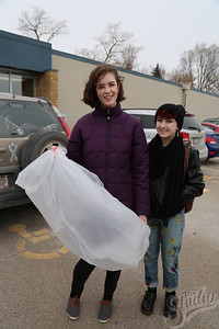 Project Thrift designers from The Greenhouse: (Left to Right)  Bailey Nandory and Geneva Kinzer.