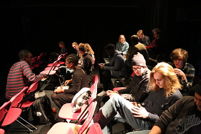 Audience at the Welcome Back Studio Showcase, 1-24-18.