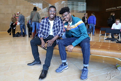 "Austin Gladden (l) and Zion Richardson, artists part of the ""Youth Culture"" Exhibition at the Chazen Museum"