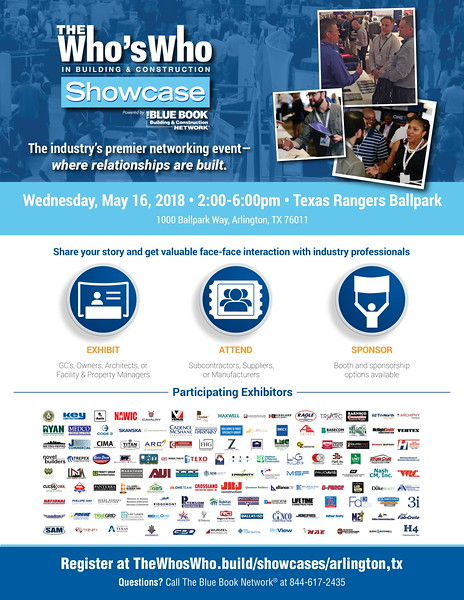 The Who's Who in Building & Construction Showcase By Blue Book 05 16 18