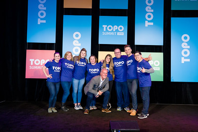 GreenRoom Staff Spencer Posed with Topo Team
