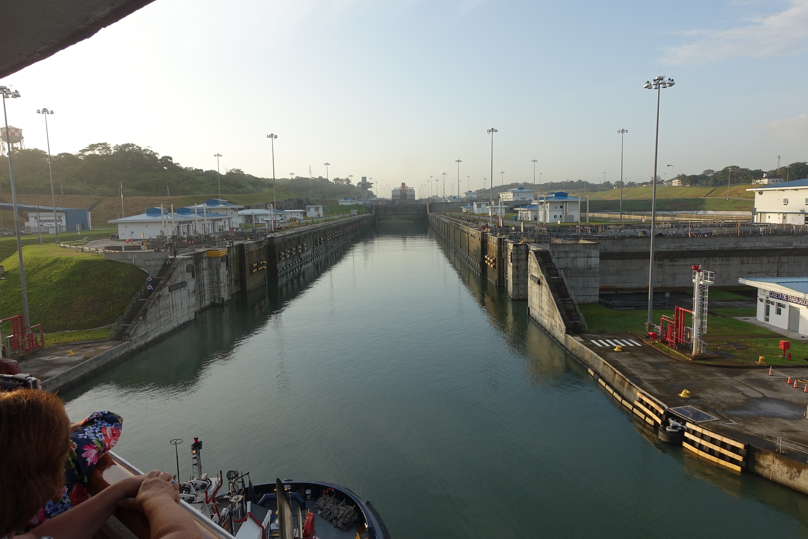 Entry Through Panama Canal into Gatun Lake (3 Locks)