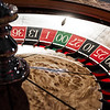 Wooden Shiny Roulette Details in a Casino