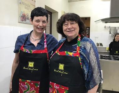 Bev and Carol Cooking