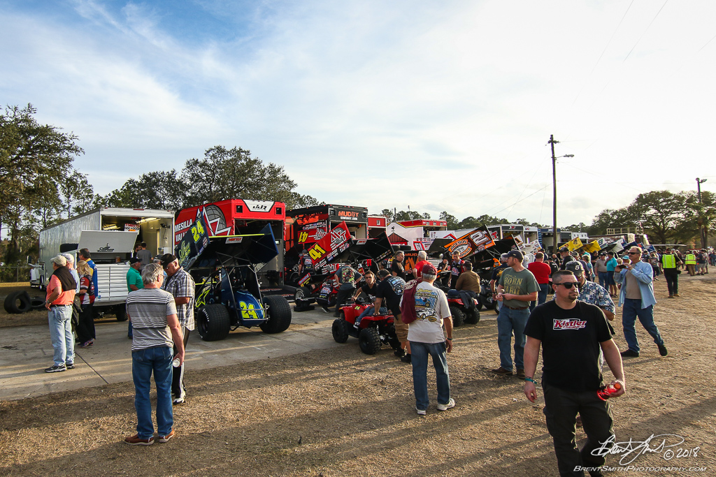 DIRTcar Nationals - World of Outlaws Craftsman Sprint Car Series - Volusia Speedway Park - Pits