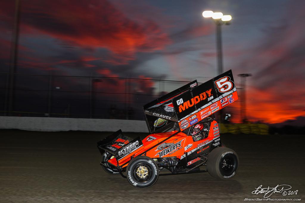 DIRTcar Nationals - World of Outlaws Craftsman Sprint Car Series - Volusia Speedway Park - 5 David Gravel