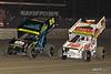 DIRTcar Nationals - World of Outlaws Craftsman Sprint Car Series - Volusia Speedway Park - 24 Rico Abreu, 21 Brian Brown