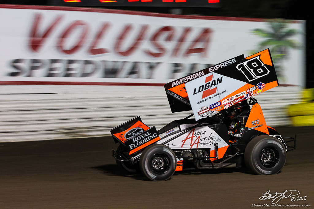 DIRTcar Nationals - World of Outlaws Craftsman Sprint Car Series - Volusia Speedway Park - 18 Ian Madsen