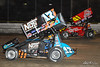 DIRTcar Nationals - World of Outlaws Craftsman Sprint Car Series - Volusia Speedway Park - 17S Sheldon Haudenschild, 41 Jason Johnson