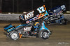 DIRTcar Nationals - World of Outlaws Craftsman Sprint Car Series - Volusia Speedway Park - 17S Sheldon Haudenschild, 26 Joey Saldana