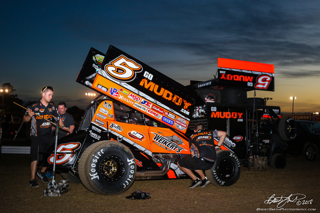 DIRTcar Nationals - World of Outlaws Craftsman Sprint Car Series - Volusia Speedway Park - 5 David Gravel