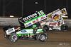 DIRTcar Nationals - World of Outlaws Craftsman Sprint Car Series - Volusia Speedway Park - 15 Donny Schatz, 21 Brian Brown