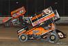 DIRTcar Nationals - World of Outlaws Craftsman Sprint Car Series - Volusia Speedway Park - 5 David Gravel, 49X Tim Shaffer