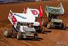 Williams Grove Speedway - 12w Troy Fraker, 48 Danny Dietrich, 27 Greg Hodnett