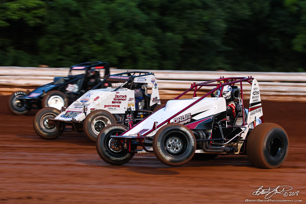 USAC AMSOIL National Sprint Car Championship - Williams Grove Speedway - 5D Zach Daum, 12 Robert Ballou