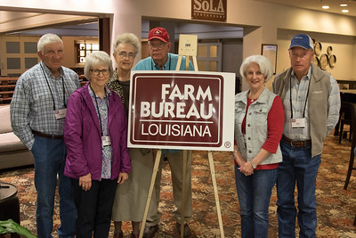 On March 16, 2018, Donald Sciafe, Elizabeth Sciafe, Louisiana Farm Bureau Women's Leadership Committee Sabine Parish Chair Helen Webb, her husband Troy Webb, Linda Guay and Billy Guay attended the Louisiana Farm Bureau Women's Leadership Committee Spring Family Conference in Lafayette.