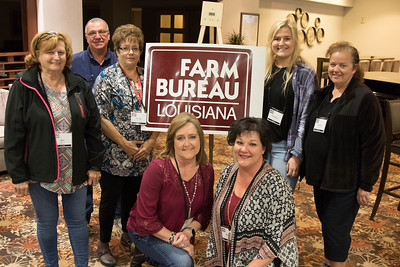 On March 16, 2018, Jan Roberts, Darrell Theriot, Vicki Albert, Pam Melancon, Louisiana Farm Bureau Women's Leadership Committee St. Martin Parish Chair Kizzy Theriot, Chalisse Huval and Brittny Huval attended the Louisiana Farm Bureau Women's Leadership Committee Spring Family Conference in Lafayette.