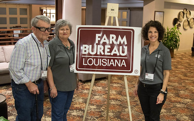 On March 16, 2018, Louisiana Farm Bureau Women's Leadership Committee St. Landry Parish Chair Adeline Lafleur, her husband Larry Lafleur, left, and Louisiana Farm Bureau Women's Leadership Committee State Chair Denise Cannatella, right, attended the Louisiana Farm Bureau Women's Leadership Committee Spring Family Conference in Lafayette.