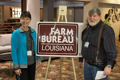 On March 16, 2018, Louisiana Farm Bureau Women's Leadership Committee Bossier Parish Chair Debbie Blanchette and her husband Randy Blanchette attended the Louisiana Farm Bureau Women's Leadership Committee Spring Family Conference in Lafayette.