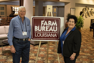 On March 16, 2018, Louisiana Farm Bureau Women's Leadership Committee District X Director Sandra Sotile and her husband Frankie Sotile of Ascension Parish attended the Louisiana Farm Bureau Women's Leadership Committee Spring Family Conference in Lafayette.