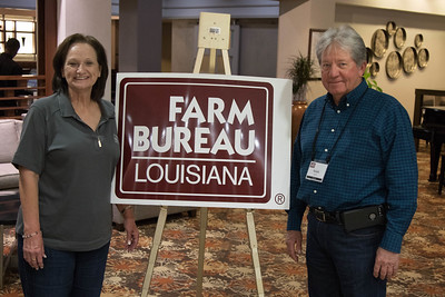 On March 16, 2018, Louisiana Farm Bureau Women's Leadership Committee Lafourche Parish Chair Margaret Babin and her husband Ralph Babin attended the Louisiana Farm Bureau Women's Leadership Committee Spring Family Conference in Lafayette.