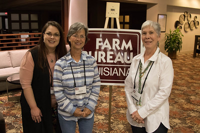 On March 16, 2018, Nikki Jaques, Janice Cheek and Louisiana Farm Bureau Women's Leadership Committee Rapides Parish Chair Debbie Harper attended the Louisiana Farm Bureau Women's Leadership Committee Spring Family Conference in Lafayette.