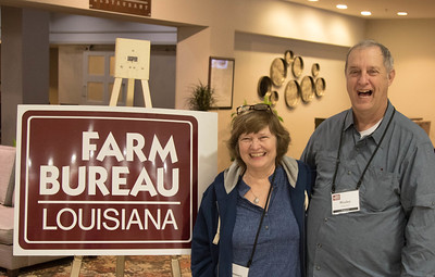 On March 16, 2018, Louisiana Farm Bureau Women's Leadership Committee Tangipahoa Parish Chair Rosemary Ridgedell, with her husband Wesley Ridgedell, attended the Louisiana Farm Bureau Women's Leadership Committee Spring Family Conference in Lafayette.