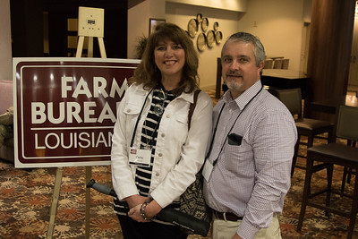 On March 16, 2018, Louisiana Farm Bureau Women's Leadership Committee St. Tammany Parish Chair Callie Foreman, with her husband Clay Foreman, attended the Louisiana Farm Bureau Women's Leadership Committee Spring Family Conference in Lafayette.