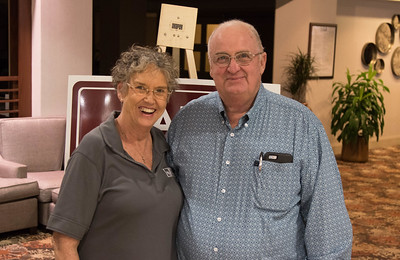 On March 16, 2018, Louisiana Farm Bureau Women's Leadership Committee 2nd-Vice Chair Becky Hensgens and her husband Johnny Hensgens of Calcasieu Parish attended the Louisiana Farm Bureau Women's Leadership Committee Spring Family Conference in Lafayette.