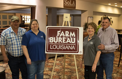 On March 16, 2018, Louisiana Farm Bureau Women's Leadership Committee District VI Director Shawna Durr, with her husband Philip Durr, left, and Louisiana Farm Bureau Women's Leadership Committee 3rd- Vice Chair Bonnie Pace, with her husband Jack Pace, right, of Natchitoches Parish attended the Louisiana Farm Bureau Women's Leadership Committee Spring Family Conference in Lafayette.