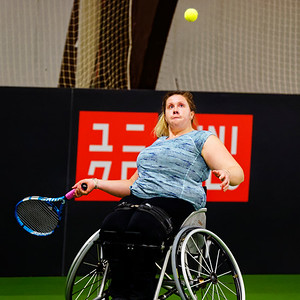 01.04b Louise Hunt - Wheelchair Doubles Masters 2018