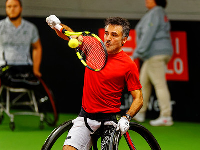 01.05a Stephane Houdet - Wheelchair Doubles Masters 2018