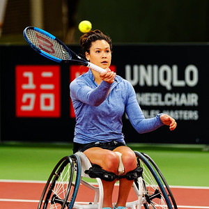 01.03b Dana Mathewson - Wheelchair Doubles Masters 2018