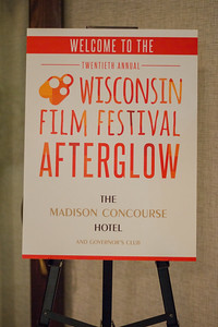 Patrons, filmmakers and staff enjoy a Saturday Afterglow at the Concourse Hotel.