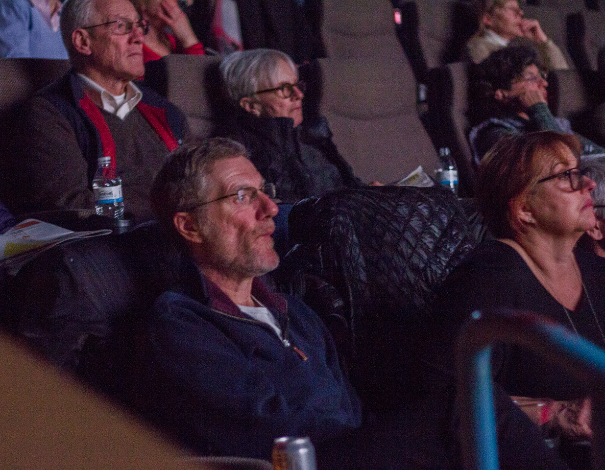 Patrons enjoy the trailer reel during the 2018 First Look at the Fest.