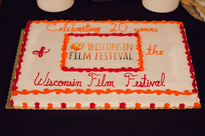 Treats at the 2018 First Look at the Fest included a cake celebrating 20 years of the Festival.