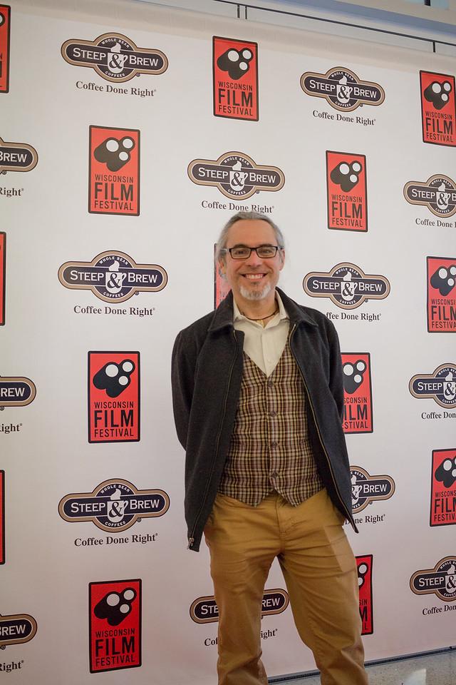 Alberto Cordero celebrates the opening of the 2018 Wisconsin Film Festival.