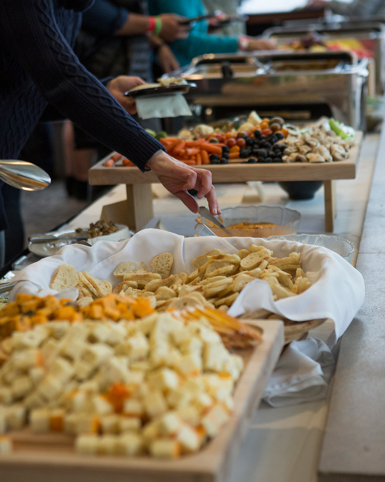 Just some of the eats offered during Opening Night of the 2018 Wisconsin Film Festival.