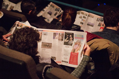 Film Fest patrons devour their Film Guides during the 2018 First Look at the Fest.