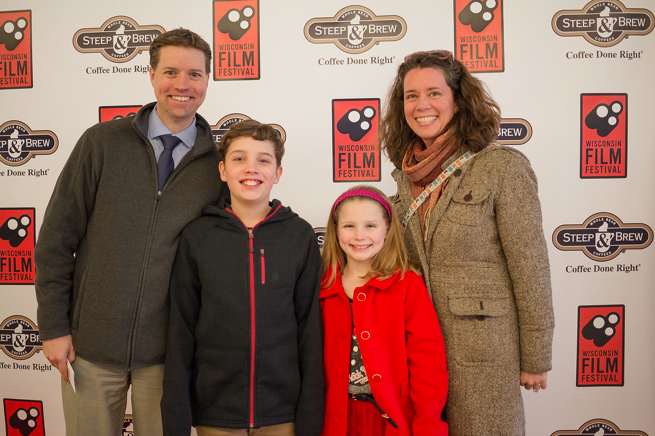 Children's Theatre of Madison Executive Director Allen Ebert (l) and his family: son Grayson, daughter Caden and wife Karen.