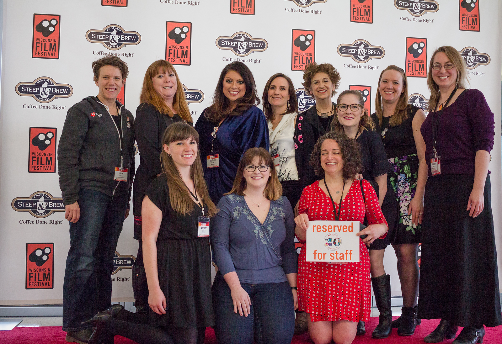 Some of the faces behind the Fest: top row (l-r) Kate Hewson, Staci Francis, Mallory Murphy, Cathy Sheets, Terry Kerr, Anna January, Sarah Chapeau, Heather Owens bottom row (l-r): Adriane Melchert, Kirsten Brooks, Lisa Spierer