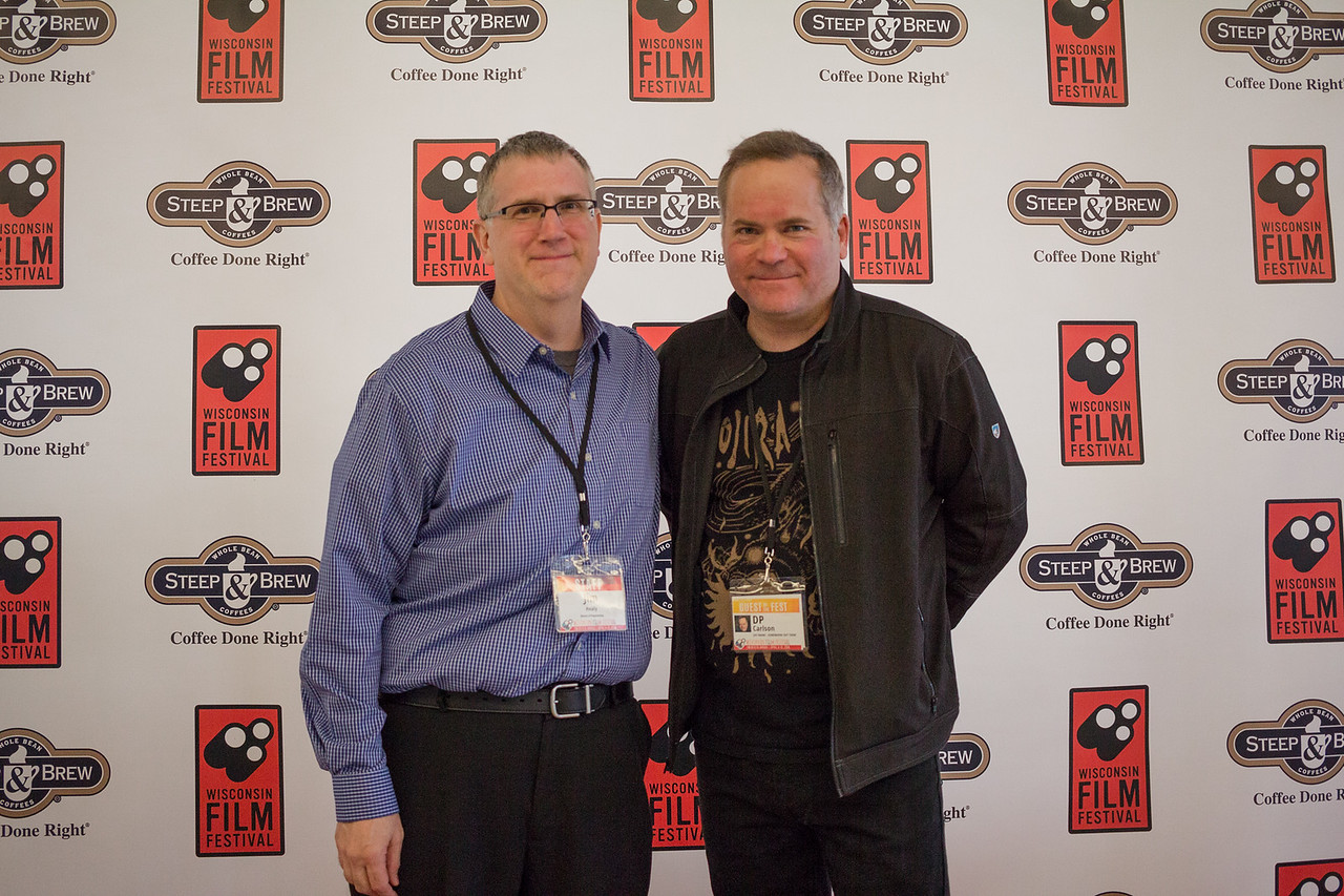 WFF Director of Programming Jim Healy (l) and D.P. Carlson (director of JOE FRANK - SOMEWHERE OUT THERE)