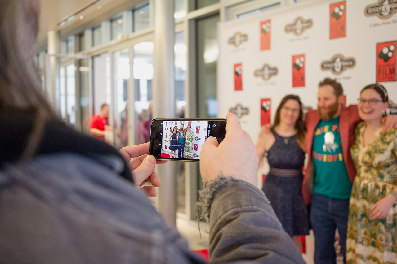 Filmmakers celebrate the opening of the 2018 Wisconsin Film Festival.