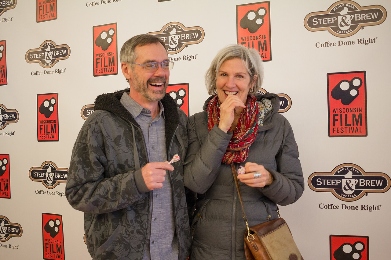 Patrons celebrate the opening of the 2018 Wisconsin Film Festival.