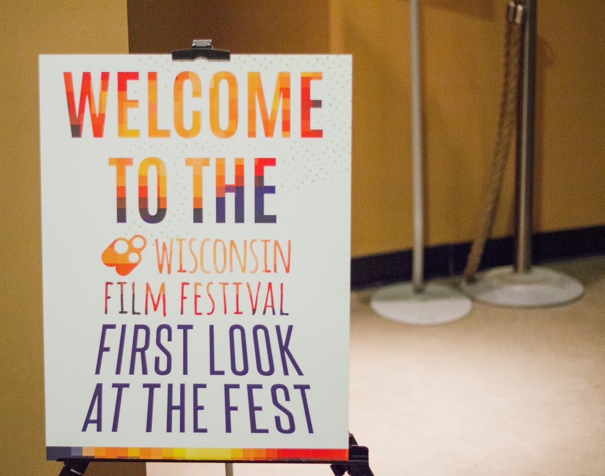 Colorful directional signage from the 2018 First Look at the Fest.