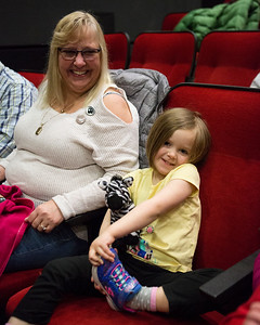 Some of the Festival's youngest and grinning-est patrons attend the 2018 iteration of Shorter and Sweeter.