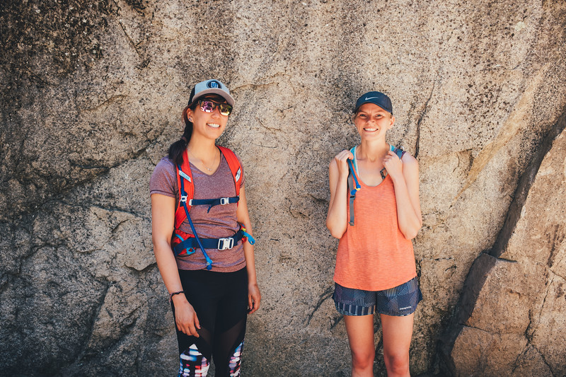 I asked them to pose in front of the rock for a photo. Normally Sammi doesn't let me take photos but since I was using the Leica, it was allowed